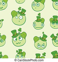 Seamless apples of a St Patricks Day - Seamless texture with...