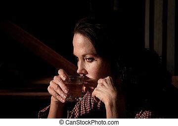 alcoolique, femme