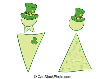 Signs of a St Patricks Day - Little men with attributes of a...