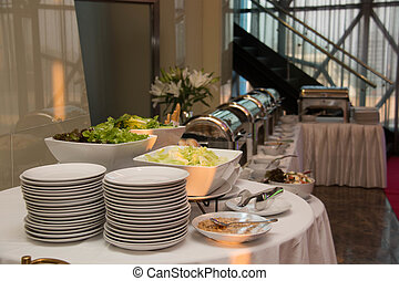 food at restaurant or catering or