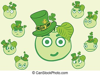 Apples of a St Patricks Day - Set with apples by a St...