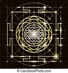 Sree Yantra Sacred Geometry - Yantra - cosmic conductor of...