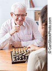 Senior spending leisure time - Image of senior spending...