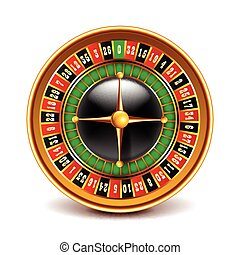 Roulette top view isolated on white vector