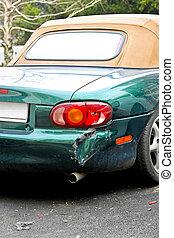 Crashed cabriolet