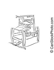 Old traditional loom