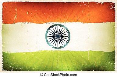 Vintage India Flag Poster Background