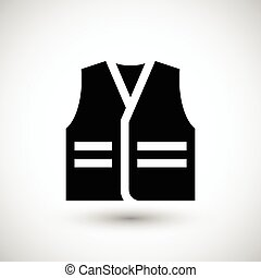 Working vest icon isolated on grey Vector illustration