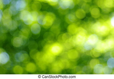 green light background - green bokeh abstract light...