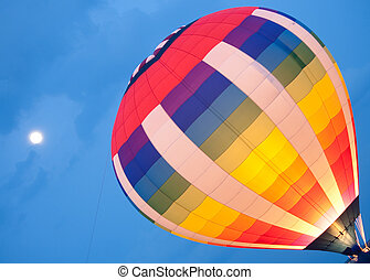 Hot Air Balloon Launch Lit Up - Hot air balloon launch lit...