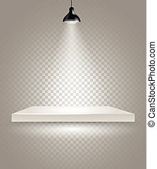 Bright stage with the lamp Transparent background