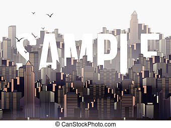 Modern City Skyline Landscape