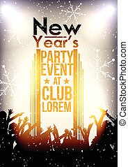 Happy New Year Party Event Backgrou