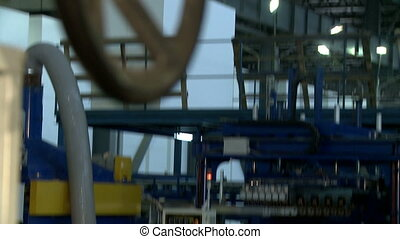 View on production department and working loader - View on...