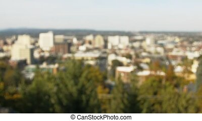 Downtown Spokane Dissolve - Daytime shot of downtown...