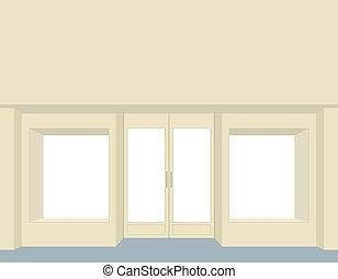 storefront Empty Storefront Clean store windows Front group...