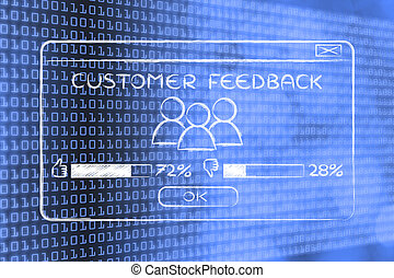customer feedback pop-up with users and percentage -...