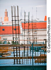 Construction site in Wroclaw Poland. Preparation for Euro 2012 football championship.
