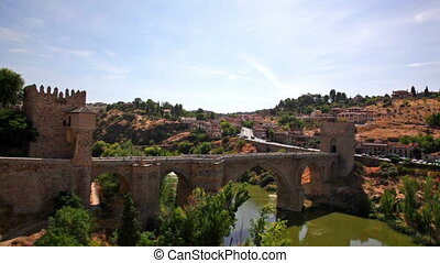 Scenic view of Toledo in sunny day, Spain - City Toledo with...