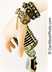 Elvis In Me - Singer\'s Hand With Retro Microphone
