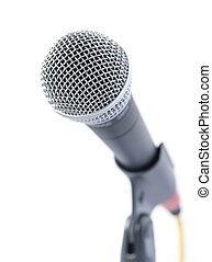 Professional Microphone Isolated Over White Background