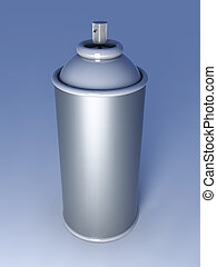 Aerosol Can - 3D rendered Illustration. An Aerosol Can.