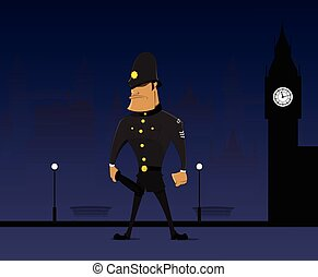 Traditional English bobby - Policeman, London, traditional...