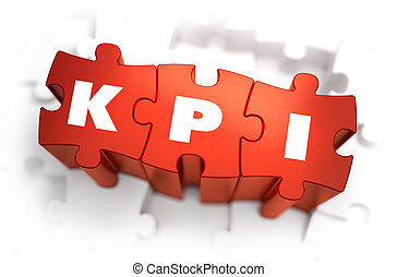 KPI - Text on Red Puzzles.