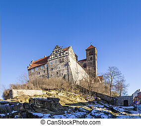 Castle and church in Quedlinburg, Germany - famous Castle...