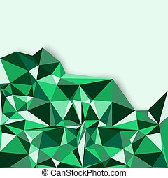 Geometric abstract background in green tones Vector...
