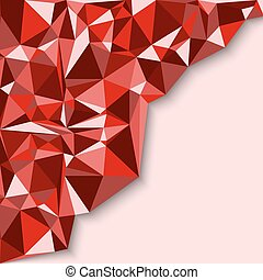 Geometric abstract background in red tones Vector...