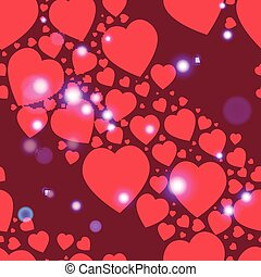 Valentine pattern. Seamless texture with hearts.