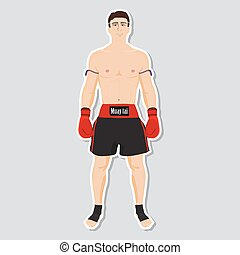 Muay tai fighter - Vector Muay tai fighter and wear for...