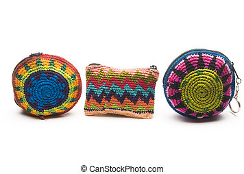 colorful change purse coin holder made in central america