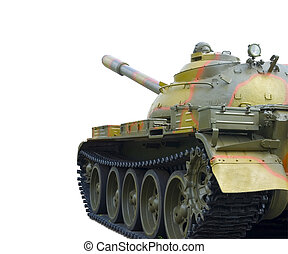 Military Tank Isolated On White Background with clipping...