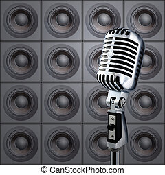 microfono, &, Altoparlanti