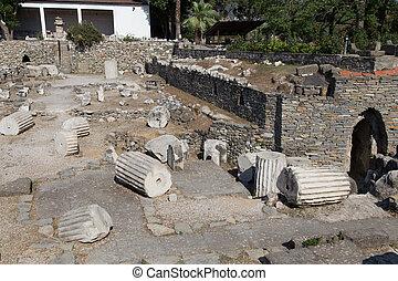 Mausoleum at Halicarnassus in Bodrum Town, Turkey