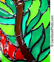 Stained glass window details