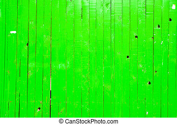 Green Grunge Fence - Green Grunge Wooden Fence Background