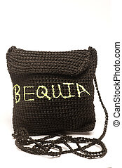 knitted change purse bag souvenir of bequia - knitted small...