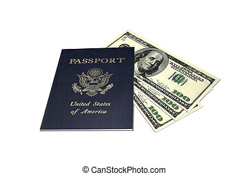 Passport and Money - Image of a U.S. passport and money.