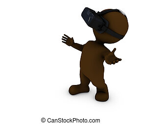Morph Man with VR Headset - 3D Render of Morph Man with VR...