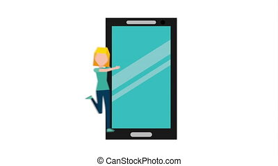 smartphone addiction design, Video Animation HD1080