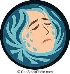 Sad Mother Earth - Concept of a Crying/Weeping Sad Mother...