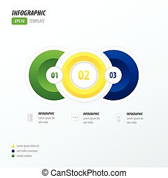 3 Circle infographic template brazil style