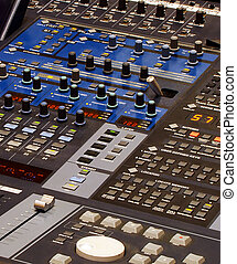 professional mixing equipment with a lot of buttons