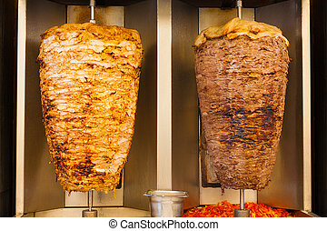 Grilled Chicken Lamb Shawerma Fast Food Meat - Delicious...