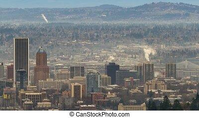Timelapse over Portland Oregon 4k