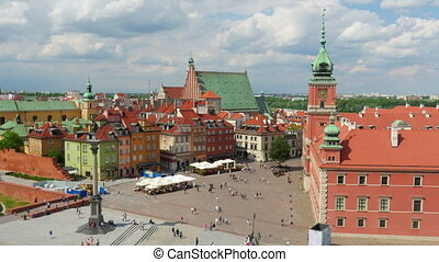 quot;warsaw old town square, poland, timelapse, zoom in,...
