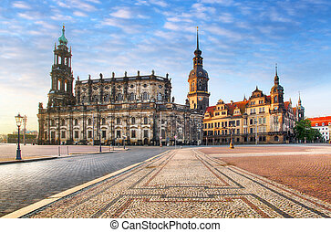 Dresden square, Germany, Hofkirche